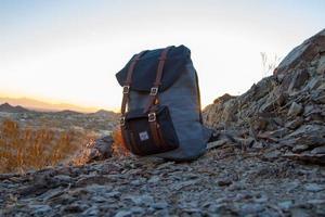 Phoenix, Arizona, 2020 - Herschel backpack on rocks