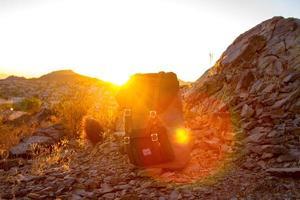 Phoenix, Arizona, 2020 - Herschel backpack at sunset