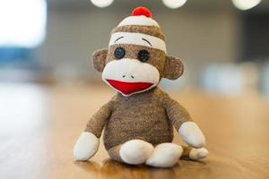 Mexico City, Mexico, 2020 - Close-up of a sock monkey