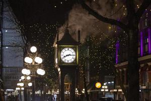 Brooklyn, NY, 2020 - Clock and lights at night