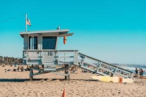Santa Monica, CA, 2020 - Lifeguard house on beach