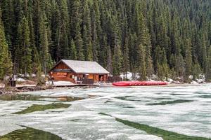 Alberta, Canada, 2020 - Fairmont Chateau Lake Louise boathouse