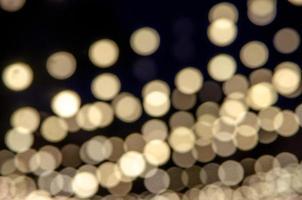 Yellow bokeh lights