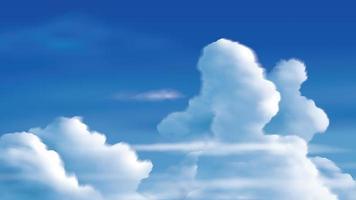 Cumulonimbus clouds on the bright blue sky
