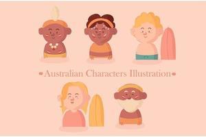 Australian Characters Pack vector