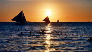 Sunset scene video
