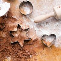 baking background:  preparing cookies