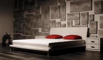 dormitorio interior 3d foto