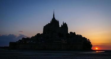 Sunset at Le Mont Sent Michael, France