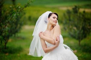 Gorgeous bride outdoor photo