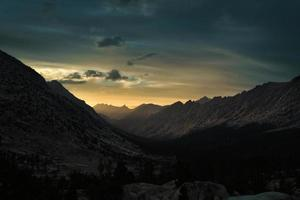 Sunset in the Sierra Nevada Mountains photo