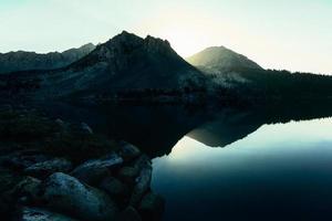 Mountain landscape in the High Sierra photo