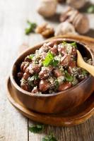 Red beans in walnut sauce