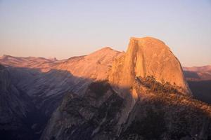 sunset over Half Dome photo
