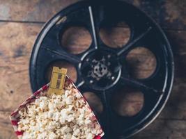Film reel and popcorn photo