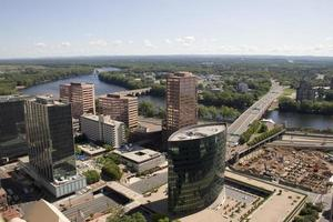 Hartford buildings and river photo