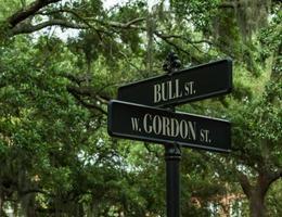 street sign in Savannah Georgia photo