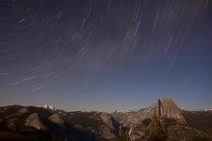 Large Star Trail over Half Dome photo
