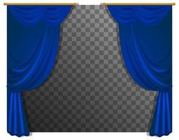 Blue curtains isolated
