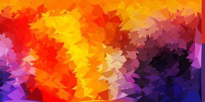 Pink, yellow, and red polygon texture. vector