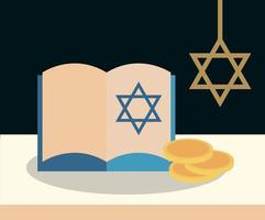 Happy Hanukkah flat composition
