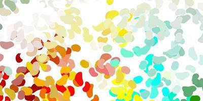 plantilla multicolor claro con formas abstractas. vector