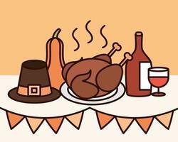 composición de la celebración del día de acción de gracias
