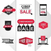 Cyber Monday sale icon set