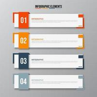 Colorful rectangular infographics elements vector
