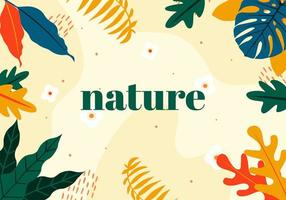 Abstract Nature Frame or Wallpaper vector
