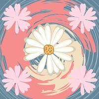 diseño de patrón de bufanda floral de tinta abstracta para hola jab y manta vector
