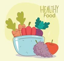 Healthy menu and fresh food composition
