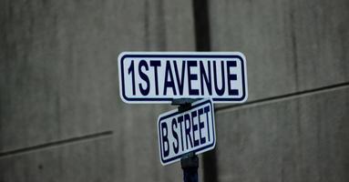 Street Sign - 1st Avenue / B Street