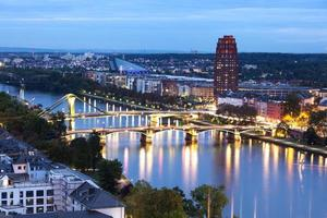 River Main in Frankfurt at dusk photo