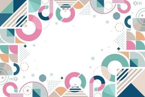 Geometric Design with Pastel Colors vector