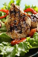 Grilled chicken breast closeup