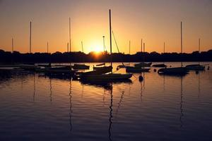 Sunrise on Lake Harriet