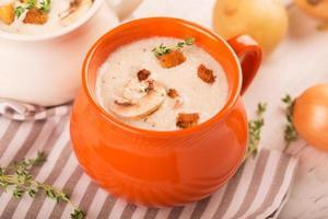 Delicious soup puree photo