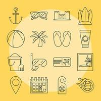Travelling and tourism icon set