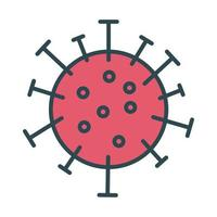 Covid19 virus particle fill style