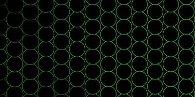 Green outlined circles on dark background vector
