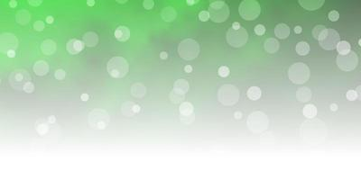 Light green texture with circles. vector
