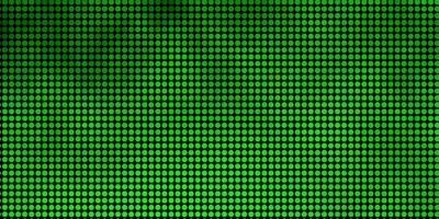 Green backdrop with dots.