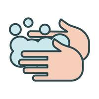 Hands washing fill style icon