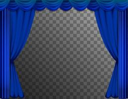 Blue theater curtains vector