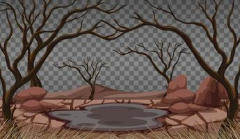 Dry cracked land landscape vector
