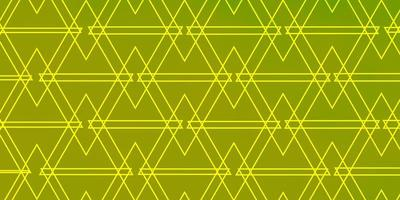 Green and yellow background with triangles.