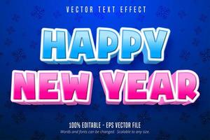 Happy new year editable text effect