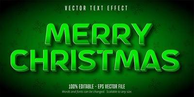 feliz navidad efecto de texto vector