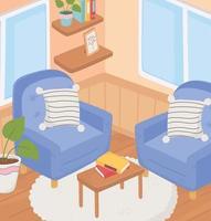 Sweet home interior vector